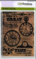 Clear Stamps Hintergrund Uhren