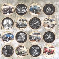 Craft&You Vintage Man Scrapbooking single paper 12x12 - Motiv 07