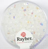 Glas-Schliffperlen, 3 mm ø irisierend bergkristall