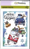 CraftEmotions clearstamps A6 - x-mass cars 1 Carla Creaties (08-19)