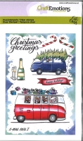 CraftEmotions clearstamps A6 - x-mass cars 2 Carla Creaties (08-19)