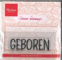 Marianne Design Clar stamp GEBOREN