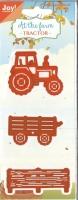 Stanze Traktor mit Anhänger
