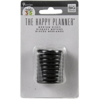 The Happy Planner - Medium Discs 9 pcs. black