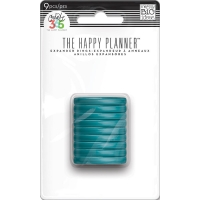 The Happy Planner - Medium Discs 9 pcs. clear teal