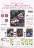 Glitter Foam Christmas Decorations 4