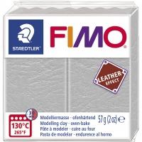 FIMO Leder-Effekt taubengrau