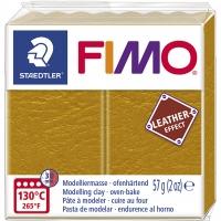 FIMO Leder-Effekt ocker