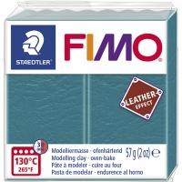 FIMO Leder-Effekt lagune