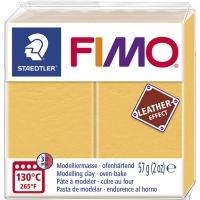 FIMO Leder-Effekt safrangelb
