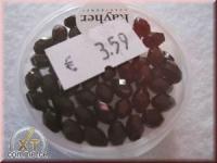 Glas-Schliffperlen, Olive 6x4 mm schwarz (nicht irisierend)