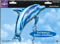 Folienballon Delfin blau