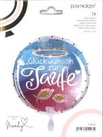 Folienballon Glückwunsch zur Taufe
