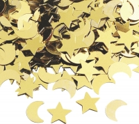 Aluflitter Mond / Sterne ca. 0,5 - 2 cm