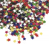 Aluflitter Sterne klein ca. 0,5 - 1 cm multicolor