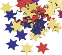 Aluflitter Sterne groß ca. 1 - 1,5 cm multicolor
