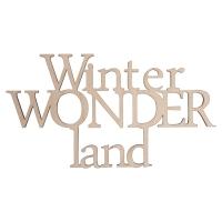 Holzschrift Winterwondland
