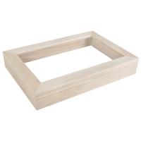 Holz-Rahmen mit Acrylglas, mittelbraun Din A4