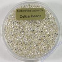 Pracht Delica Rocailles 2mm 9g cristall mit Silbereinzug