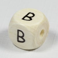 Holz-Buchstabenperle B