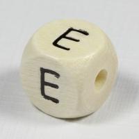 Holz-Buchstabenperle E
