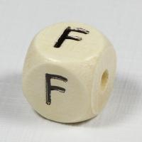 Holz-Buchstabenperle F