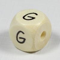 Holz-Buchstabenperle G