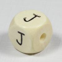 Holz-Buchstabenperle J