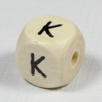 Holz-Buchstabenperle K