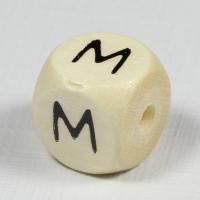 Holz-Buchstabenperle M