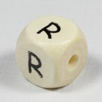 Holz-Buchstabenperle R