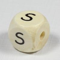 Holz-Buchstabenperle S