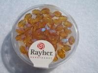 Glas-Schliffperlen, Olive 6x4 mm irisierend topas