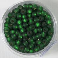 Pracht Rocailles mit Silbereinzug matt 4,5mm 17g grün