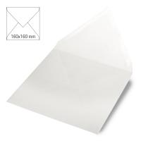 Kuvert quadratisch 16cm x 16cm weiß