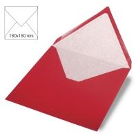 Kuvert quadratisch 16cm x 16cm kardinalrot