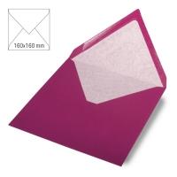 Kuvert quadratisch 16cm x 16cm red magma