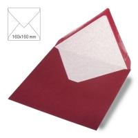 Kuvert quadratisch 16cm x 16cm bordeaux