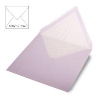 Kuvert quadratisch 16cm x 16cm flieder