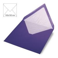 Kuvert quadratisch 16cm x 16cm violett