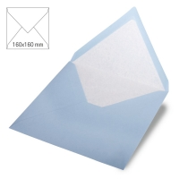 Kuvert quadratisch 16cm x 16cm babyblau