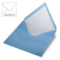 Kuvert quadratisch 16cm x 16cm azurblau