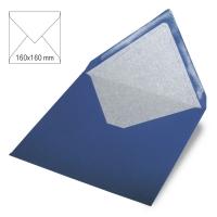 Kuvert quadratisch 16cm x 16cm royalblau