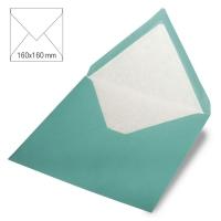 Kuvert quadratisch 16cm x 16cm türkis