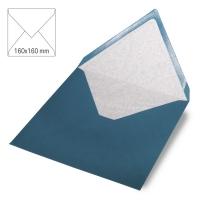 Kuvert quadratisch 16cm x 16cm dunkeltürkis