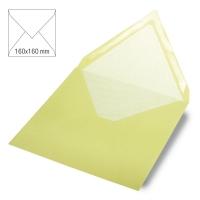 Kuvert quadratisch 16cm x 16cm pastellgrün