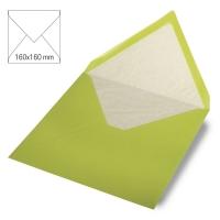 Kuvert quadratisch 16cm x 16cm lindgrün