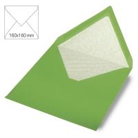 Kuvert quadratisch 16cm x 16cm immergrün
