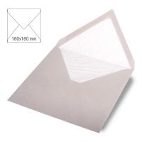 Kuvert quadratisch 16cm x 16cm taupe