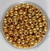 Pracht Rocailles metallic 4,5mm 17g gold